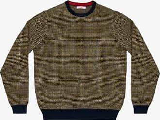 Sun 68 Dunkelblaues und hellgraues Jacquard-T-Shirt mit Rundhalsausschnitt - Wool and Cotton | light gray | small