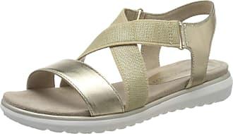 Marco Tozzi Womens 2-2-28635-24 Ankle Strap Sandals, Silver (Platinum Comb 960), 6 UK