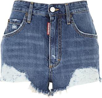 Dsquared2 Shorts for Women On Sale, Denim Blue, Cotton, 2019, 26 28 30
