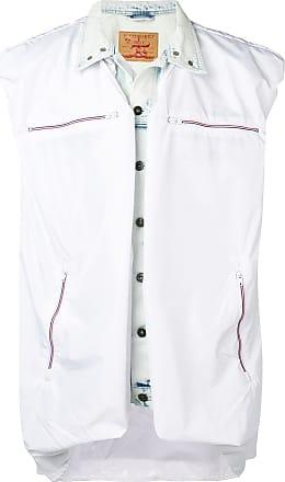 Y / Project Jaqueta jeans sem mangas com sobreposição - Branco