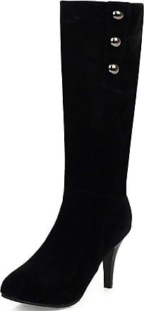 Vimisaoi Knee High Boots for Women, Pull On Stiletto High Heels Autumn Winter Dress Wide Calf Boots