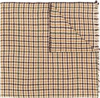 Isabel Marant houndstooth check print scarf - Preto