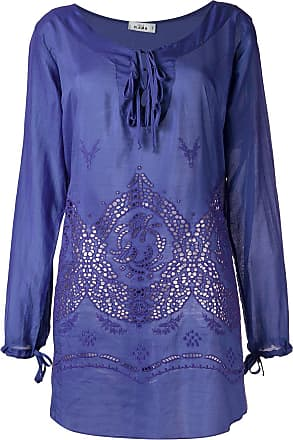 Amir Slama panelled beach dress - PURPLE