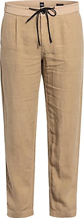 BOSS Leinen-Chino SYMOON Tapered Fit - BEIGE