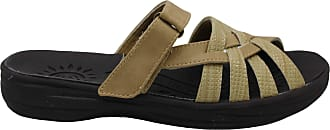 Easy Street Womens Delia Open Toe Casual Slide Sandals, NAT/NAT/Weave, Size 6.5 US