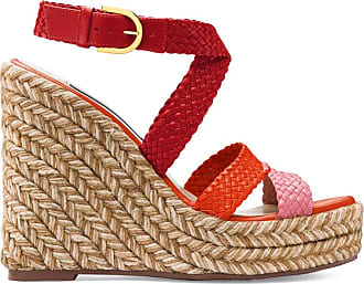 Stuart Weitzman Red Woven Leather