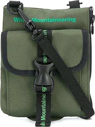 White Mountaineering Bolsa tiracolo com estampa de logo - Verde