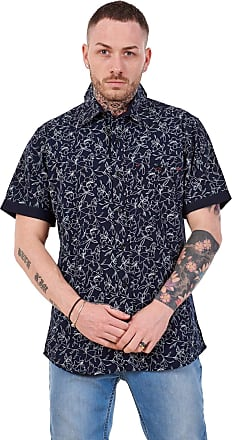 JD Williams Mens 100% Cotton Printed Shirt Short Sleeve Regular Big Size Casual Top M to 5XL