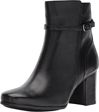 Clarks Womens Kensett Diana Ankle Bootie Black Leather 10 M US