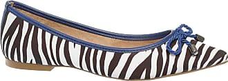 Constance Sapatilha Zebra com Detalhes Azul