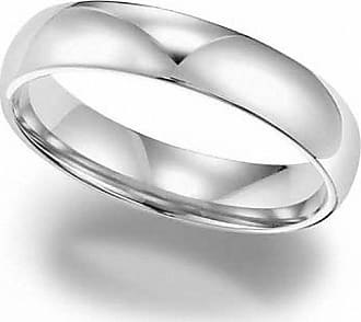 Zales Ladies 4.0mm Comfort Fit Wedding Band in 10K White Gold