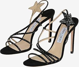 Jimmy Choo London Suede LYNN Jewel Sandals 11 cm Größe 40
