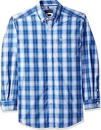 Ariat Mens Classic Fit Long Sleeve Button Down Shirt, Pablo Washed Cobalt, MED
