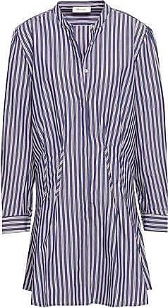 f5cc83ec0e165 Anine Bing Anine Bing Woman Striped Cotton-poplin Mini Shirt Dress Indigo  Size XS