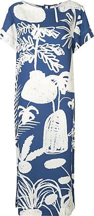Whit Vestido com estampa contrastante - Azul