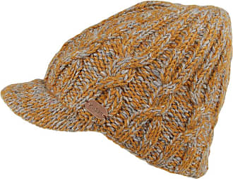 KuSan Hats Cable Knit Peaked Beanie Hat - Caramel 1-Size