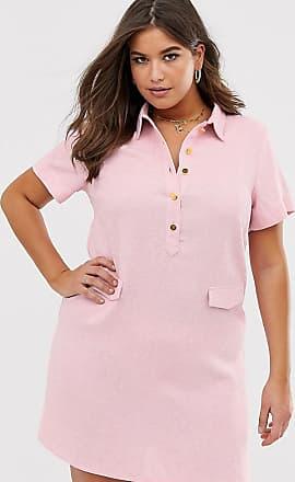 Unique21 Hero Unique21 Hero boucle tweed button through utility mini dress-Pink