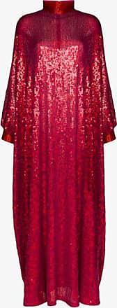 Ashish Womens Pink High Neck Sequin Kaftan Gown