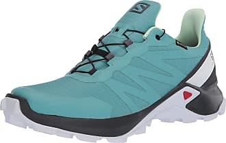Salomon Womens Supercross GTX Competition Running Shoes, Multicolor (Meadowbrook/Ebony/Patina Green), 10.5 UK