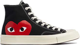 Comme Des Garçons X Converse Rotes Herz Chuck Taylor All Star 70 High Black Schuhe - black | 5.5 uk - Black/Black