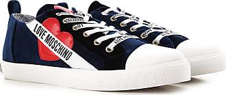 0a5c35d590366 Moschino Sneaker Femme Pas cher en Soldes, Bleu marine, Velours, 2017, 40