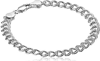 Amazon Essentials Sterling Silver Double-Link Chain Bracelet, 7