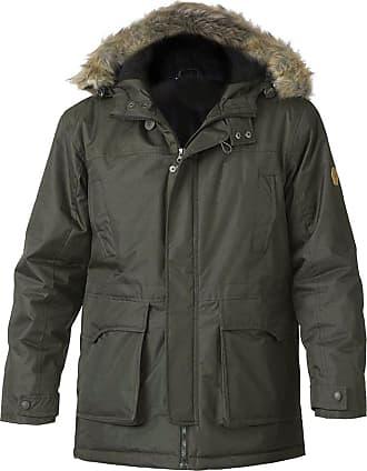 Duke London Mens Duke D555 Big Size Padded Fur Lined Hooded Parka Jacket Winter Coat 3XL 4XL Khaki