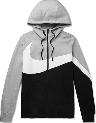 9d5356a347ec Nike Sportswear Colour-block Fleece-back Cotton-blend Jersey Hoodie - Black