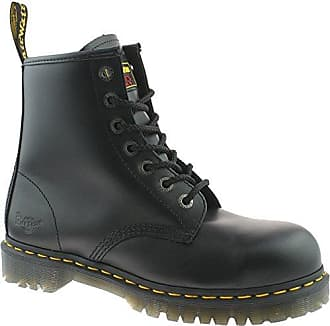 13c59ab85b46 Dr. Martens MENS DR MARTENS BLACK SAFETY WORK STEEL TOE CAP ICON 7B10 BOOTS  SIZE