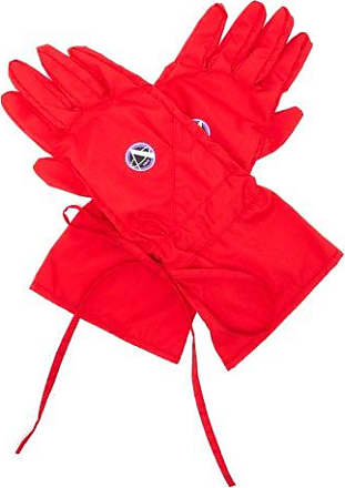 Raf Simons Apollo-print Poplin Gloves - Mens - Red