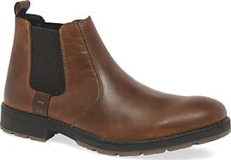 Rieker Men Tan Leather Chelsea Boots 7