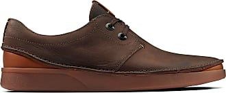 Clarks Mens Dark Brown Leather Clarks Oakland Lace Size 11.5