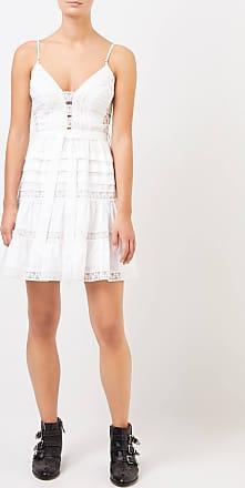 Zimmermann Kurzes Baumwoll-Kleid mit Spitze Weiß 100% Baumwolle Futter: - 100% Baumwolle Spitzendetails: - 100% Baumwolle