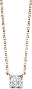 Emphasis Mystique18K White & Red Gold Diamond Necklace, Small