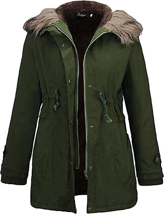 VITryst Womens Long Sleeve with Pockets Thicken Faux Fur Trim Hood Zipper Drawstring Waist Short Down Jackets Jacket,1,X-Small