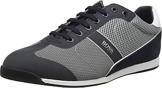 BOSS Mens Glaze_Lowp_mewt Low-Top Sneakers, Blue (Open Blue 460), 10 UK