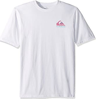 Quiksilver Mens Quad Stack TEE, White, XL