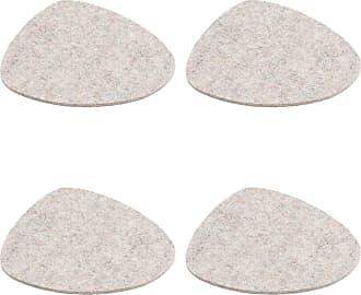 Hey-Sign Stone Tischset 4er Set 34x29cm - grau hellmeliert/Filz in 5mm Stärke/LxBxH 34x29x0.5cm
