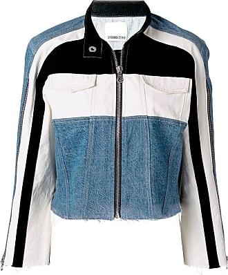 Ground-Zero Jaqueta jeans com recortes contrastantes - Azul