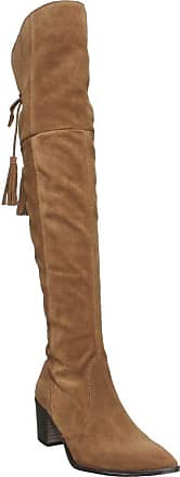 Office Krescent- Over The Knee Western Boot Tan Suede - 6 UK