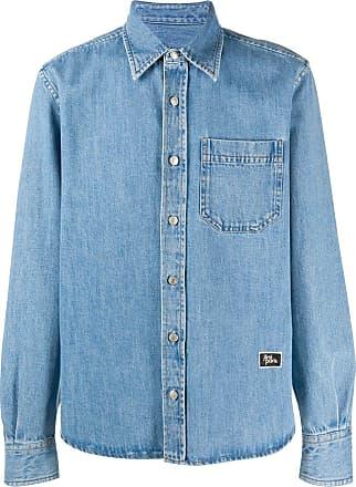 Ami Camisa jeans clássica - Azul