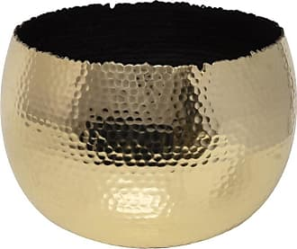 Posh Totty Designs Hammered Effect Copper or Brass Planter - Large - brass - Brass