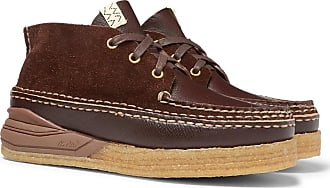 Visvim Canoe Moc Ii Leather And Suede Boots - Dark brown