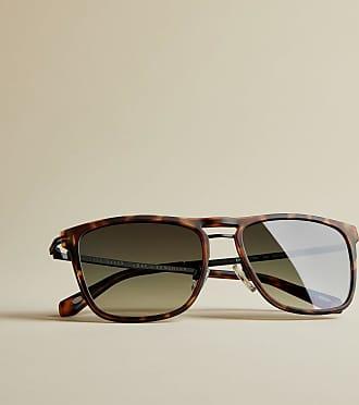 Ted Baker Rectangular Sunglasses in Tortoise Shell EMILS, Mens Accessories