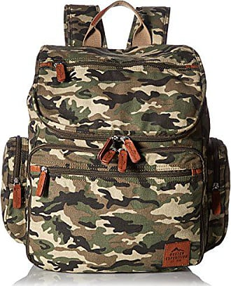 Buxton Mens Expedition Ii Huntington Canvas Backpack, Camo