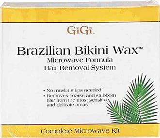 Gigi Brazilian Bikini Home Waxing Kit, Complete Hair Removal System