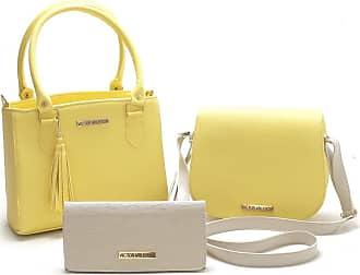 Victor Valência Kit 2 Bolsas Coloridas Com Carteira Victor Valencia (Amarelo)