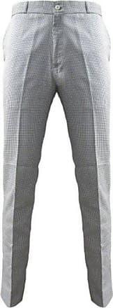 Relco Mens Dogtooth Sta Press Mod Trousers Waist 28 Leg 31 White/Black