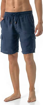 Vilebrequin Solid Cargo Linen Bermuda Shorts - Men - Navy - XXL