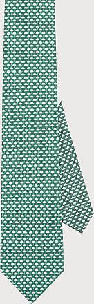 Salvatore Ferragamo Men Weather print silk tie Green